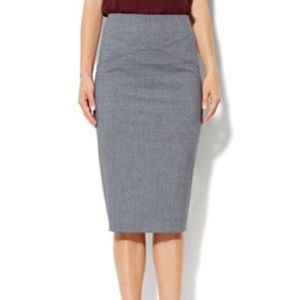 NY&Co Grey Knit Pencil Skirt